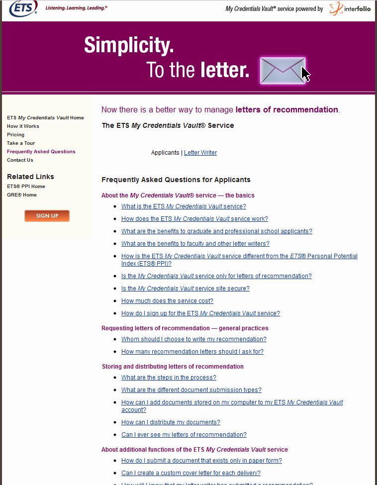 Interfolio Letter Of Recommendation New บริการส่งเอกสารสมัครเรียนต่ออเมริกาผ่าน Ets My Credentials