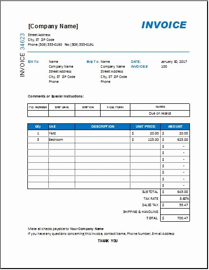 Interior Design Purchase order Inspirational Interior Design Invoice Template for Excel