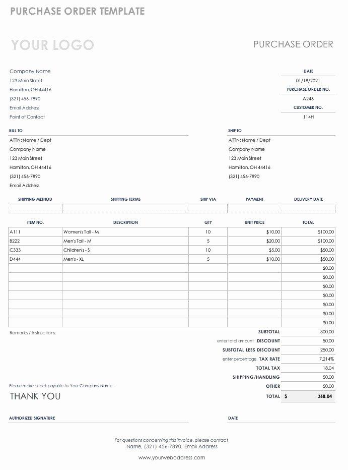 Interior Design Purchase order Template Best Of Free Purchase order Templates