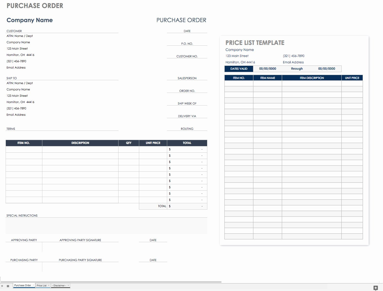 Interior Design Purchase order Template Elegant Free Purchase order Templates