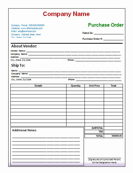 Interior Design Purchase order Template Inspirational 40 Free Purchase order Templates forms