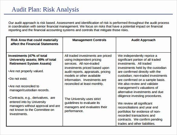 Internal Audit Plan Template New 9 Sample Audit Plan Templates Word Pdf