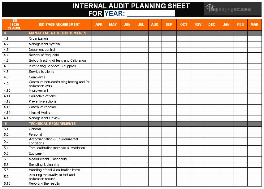 Internal Audit Plan Template New Develop Internal Audit System In Laboratory