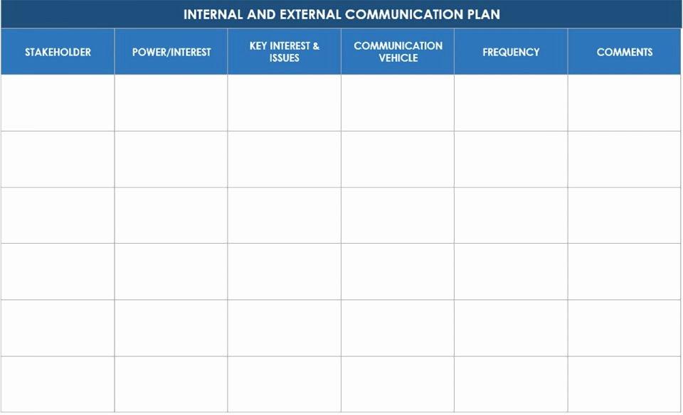 Internal Communication Plan Template Beautiful Free Munication Strategy Templates and Samples