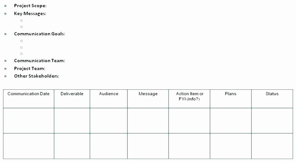 Internal Communication Plan Template Best Of Internal Munications Plan Template