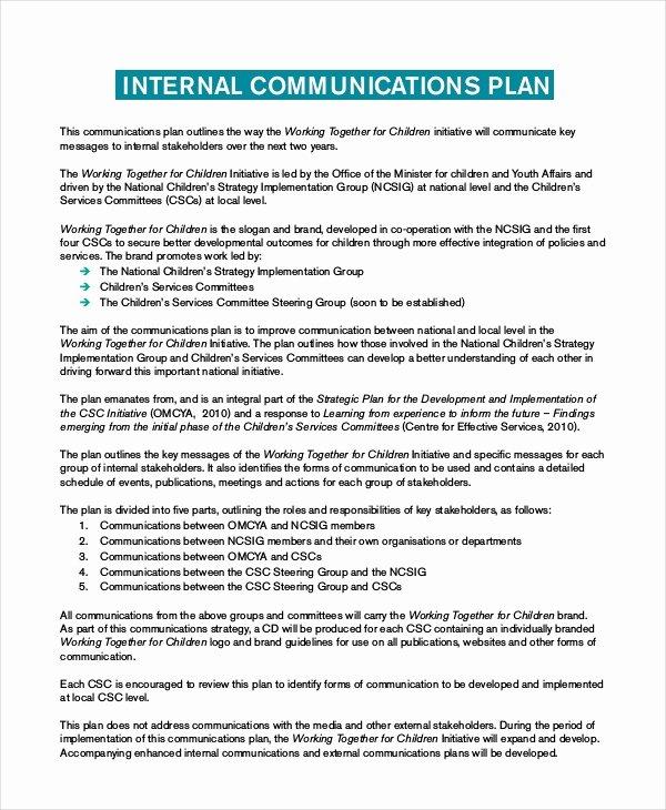 Internal Communication Plan Template Fresh Plan Template 18 Free Word Pdf Psd Indesign format