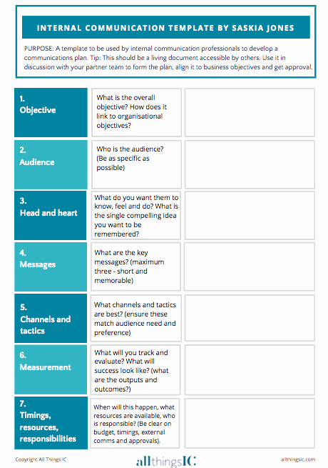 Internal Communication Plan Template New Free Internal Ms Plan Template