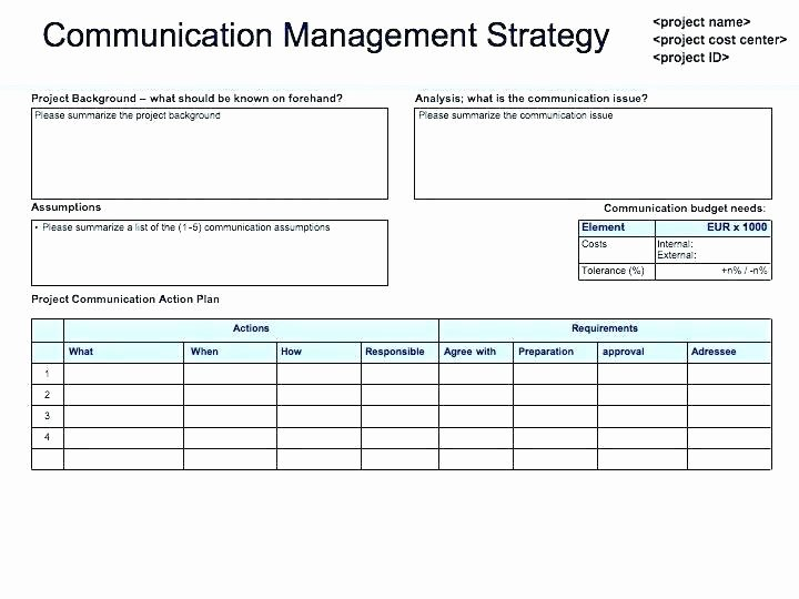 Internal Communications Plan Template Awesome Internal Munications Plan Template – Sample