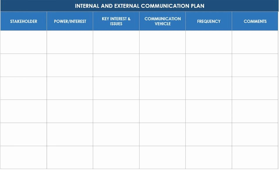 Internal Communications Plan Template Elegant Free Munication Strategy Templates and Samples