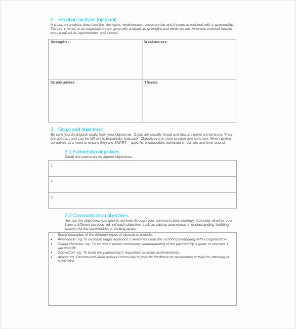 Internal Communications Plan Template Inspirational Strategy Template – 19 Free Word Excel Pdf Document