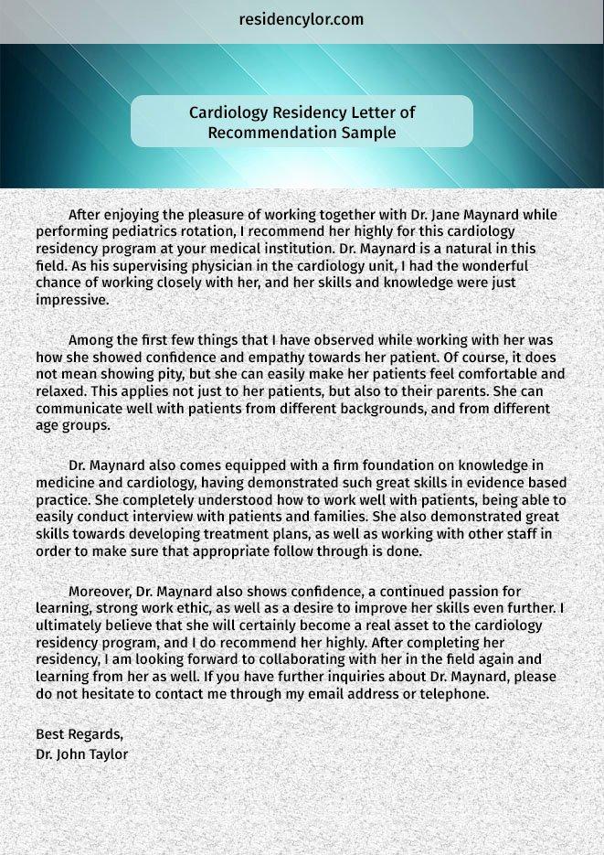 Internal Medicine Letter Of Recommendation Fresh Professional Medical Re Mendation Letter for Residency