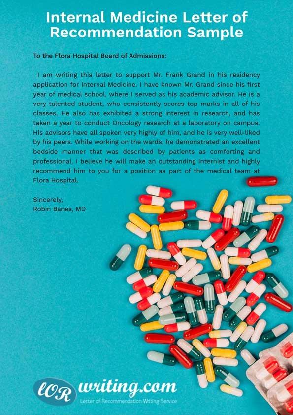 Internal Medicine Letter Of Recommendation New Professional Residency Letter Of Re Mendation Sample