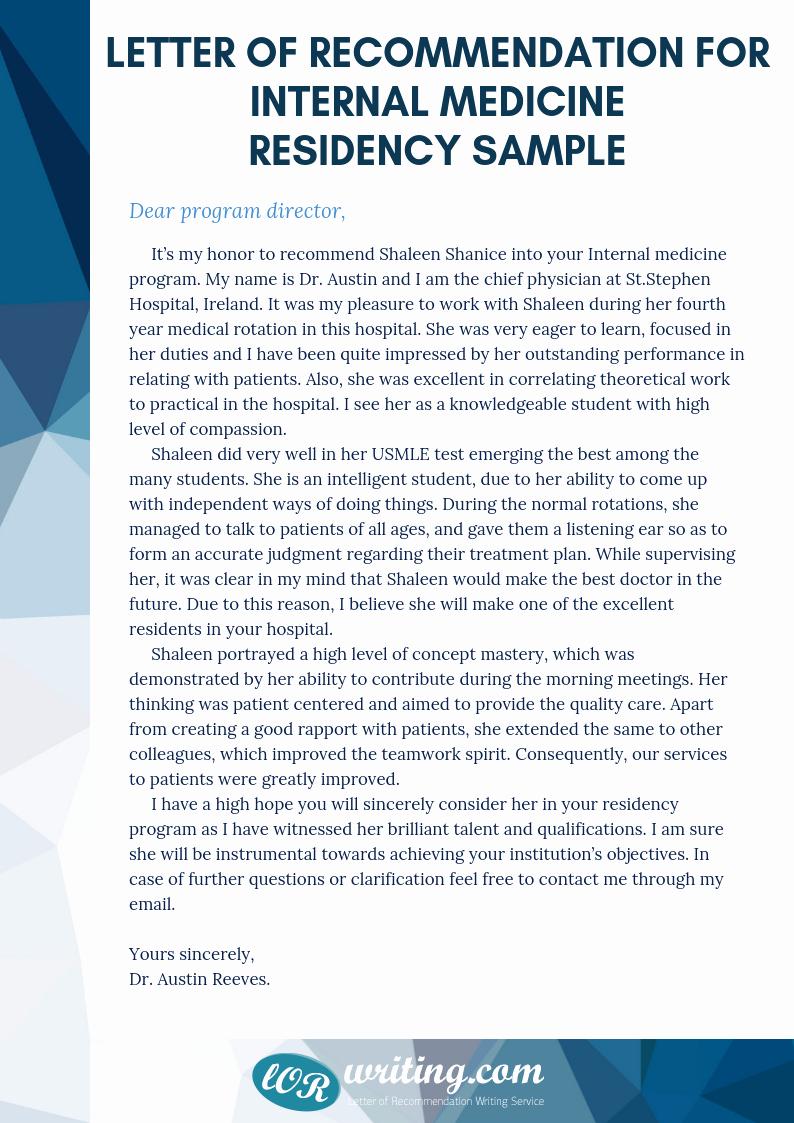 Internal Medicine Letter Of Recommendation Unique top Letter Of Re Mendation for Internal Medicine Residency
