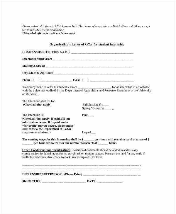 Internship Letter format Students Beautiful 10 Sample Internship Fer Letters Pdf Doc Apple Pages