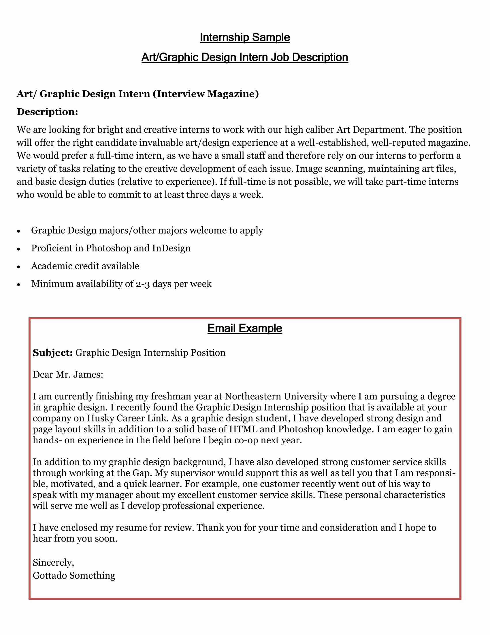 Internship Letter format Students Unique 16 Best Cover Letter Samples for Internship Wisestep