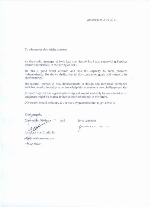Internship Letter Of Recommendation Beautiful Job Reference Letter Internship