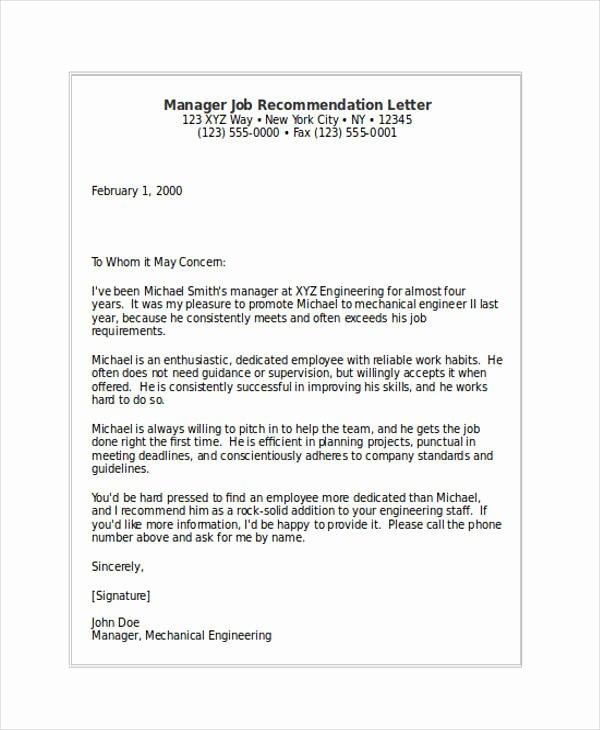 Internship Letter Of Recommendation Elegant 89 Re Mendation Letter Examples & Samples Doc Pdf