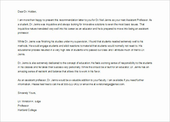 Internship Letter Of Recommendation Inspirational Reference