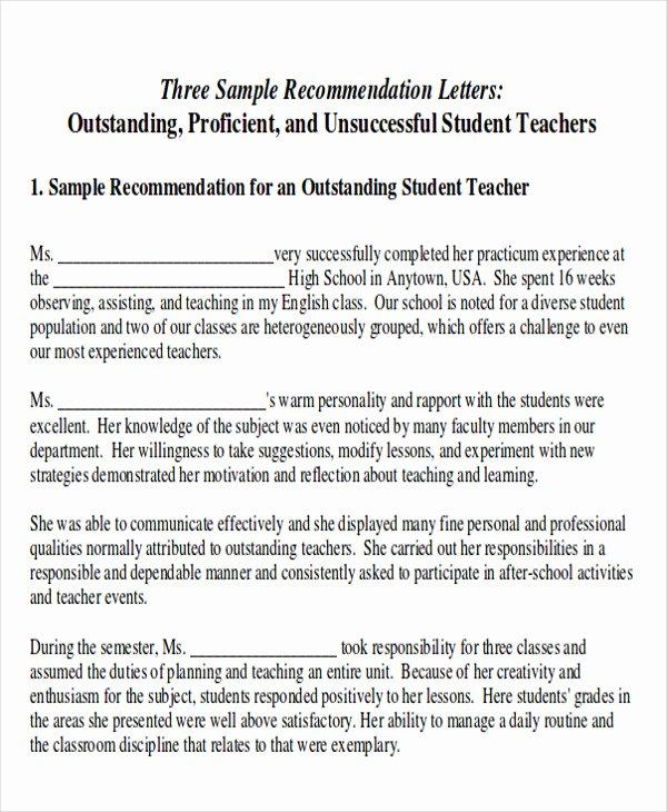 Internship Recommendation Letter Sample Awesome 8 Sample Internship Re Mendation Letters