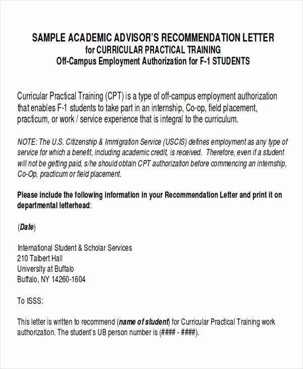 Internship Recommendation Letter Sample New 8 Sample Internship Re Mendation Letters