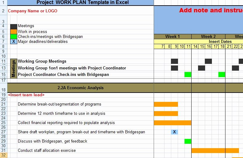 Internship Work Plan Template Awesome Project Work Plan Template In Excel Xls