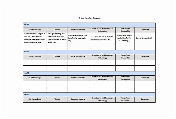 Internship Work Plan Template Inspirational 21 Work Plan Templates Free Sample Example format