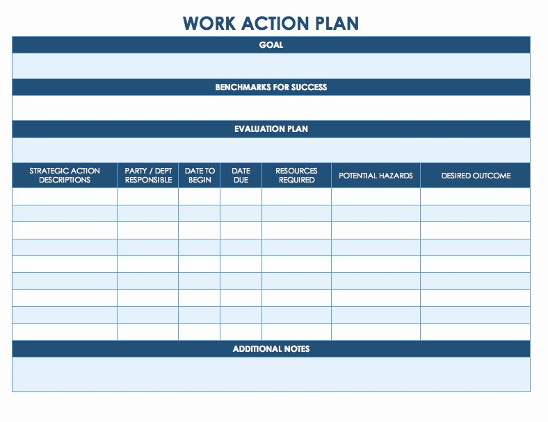 Internship Work Plan Template Unique Free Action Plan Templates Smartsheet