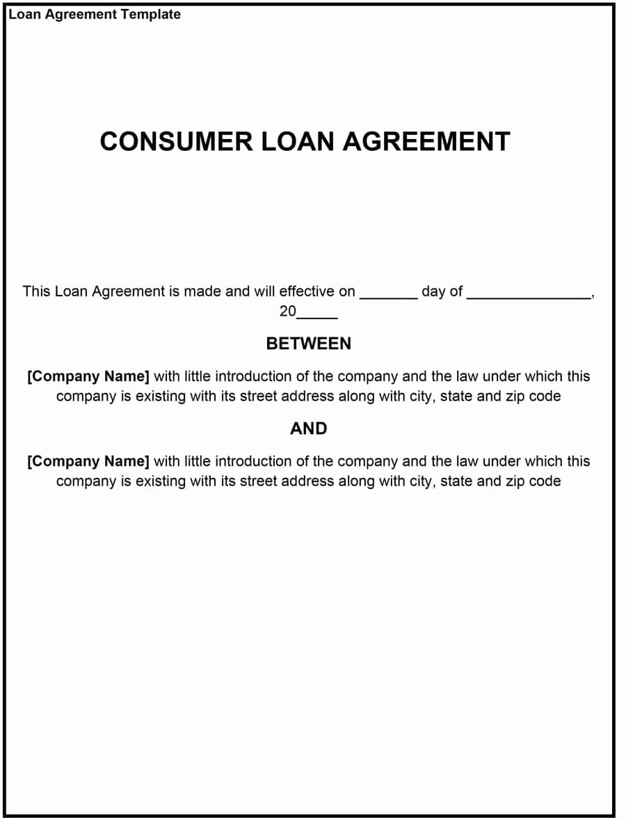 Intra Family Loan Agreement Template Awesome July 2017 Archive Loan Agreement forms Loan Agreement