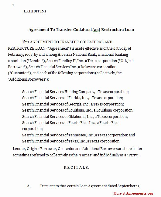 Intra Family Loan Agreement Template Best Of Agreement Template Category Page 33 Efoza
