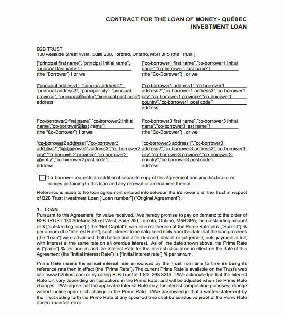 Intra Family Loan Agreement Template Elegant Intra Family Loan Agreement Template