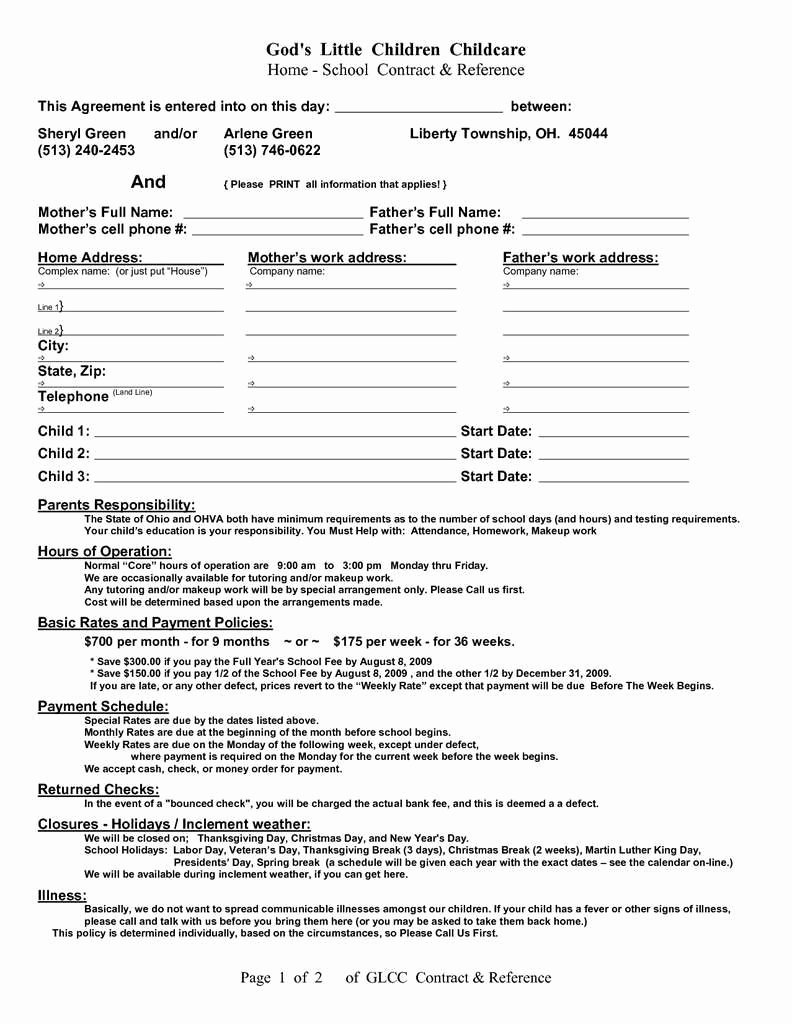 Intra Family Loan Agreement Template Inspirational 56 Unique Contractor Non Pete Agreement Template