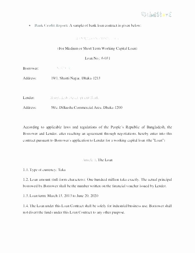 Intra Family Loan Agreement Template Unique Safety Contract Samples Templates Sample Templates Line