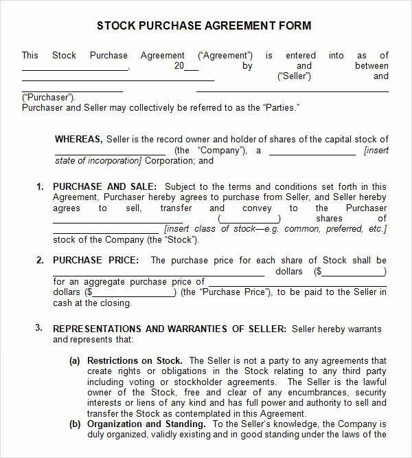 Inventory Stocking Agreement Fresh 11 Stock Purchase Agreement Templates to Download