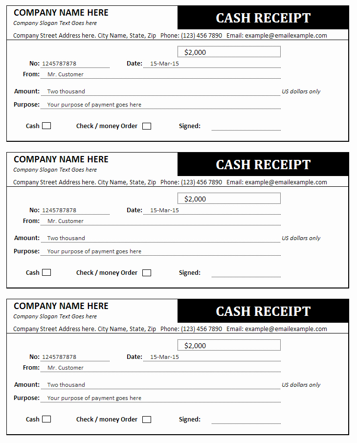 Is An Invoice A Receipt Elegant Cash Receipt and Invoice Templates