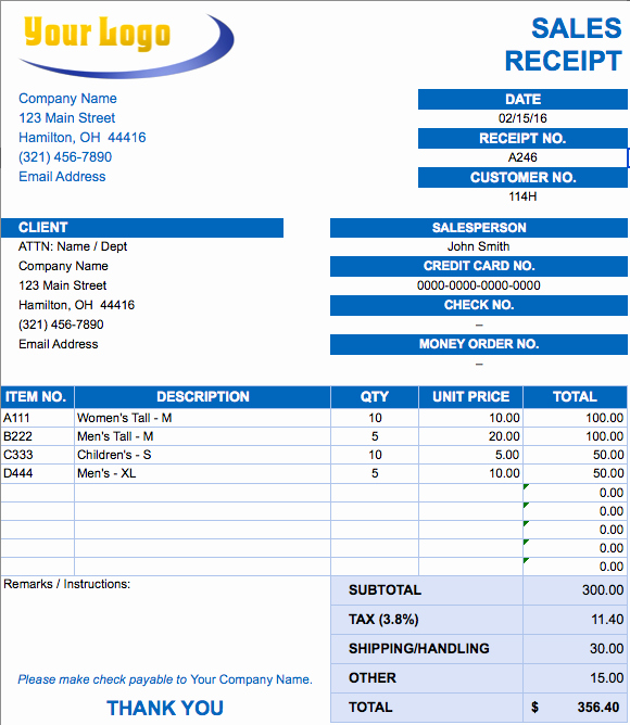 Is An Invoice A Receipt Fresh Free Excel Invoice Templates Smartsheet