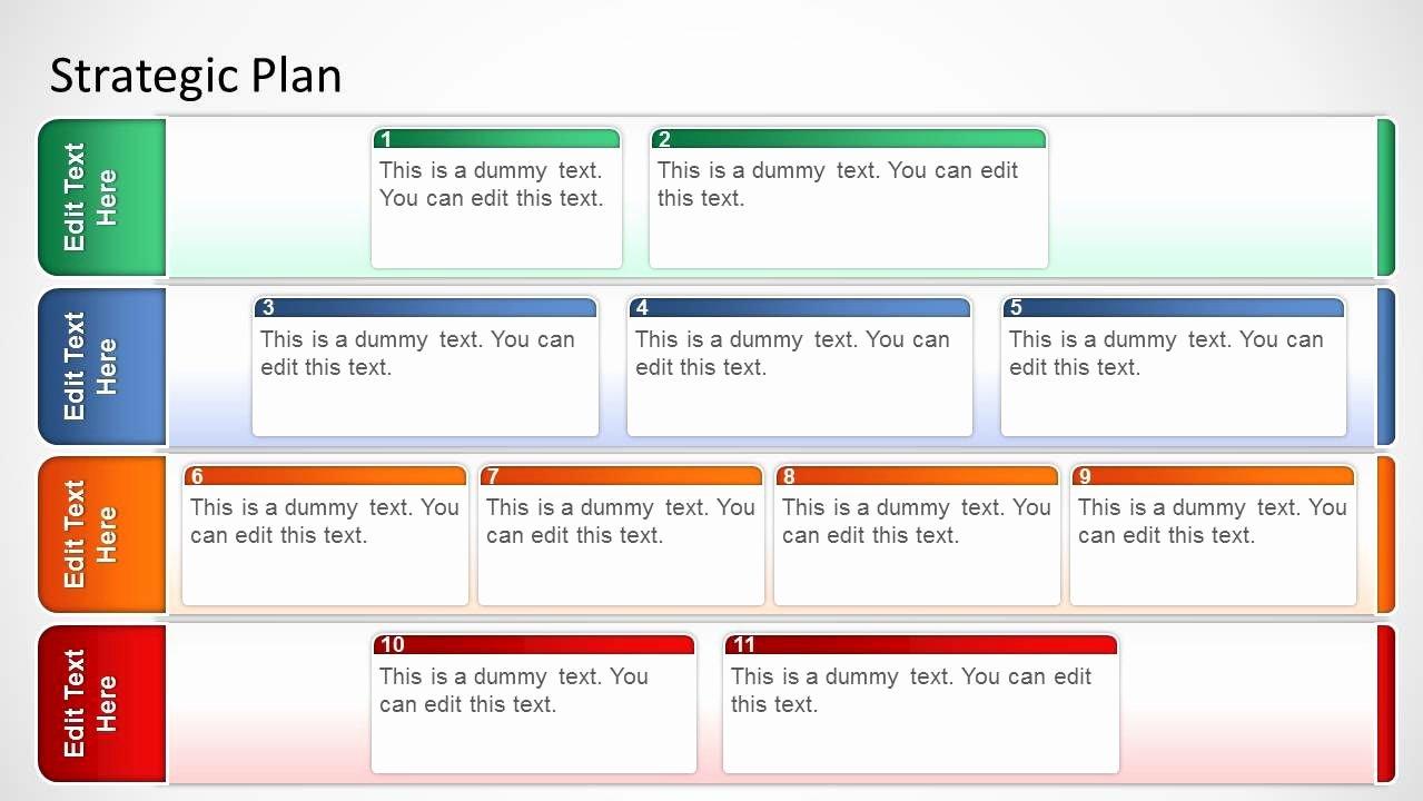 It Strategic Plan Template Beautiful Basic Strategic Plan Template for Powerpoint Slidemodel