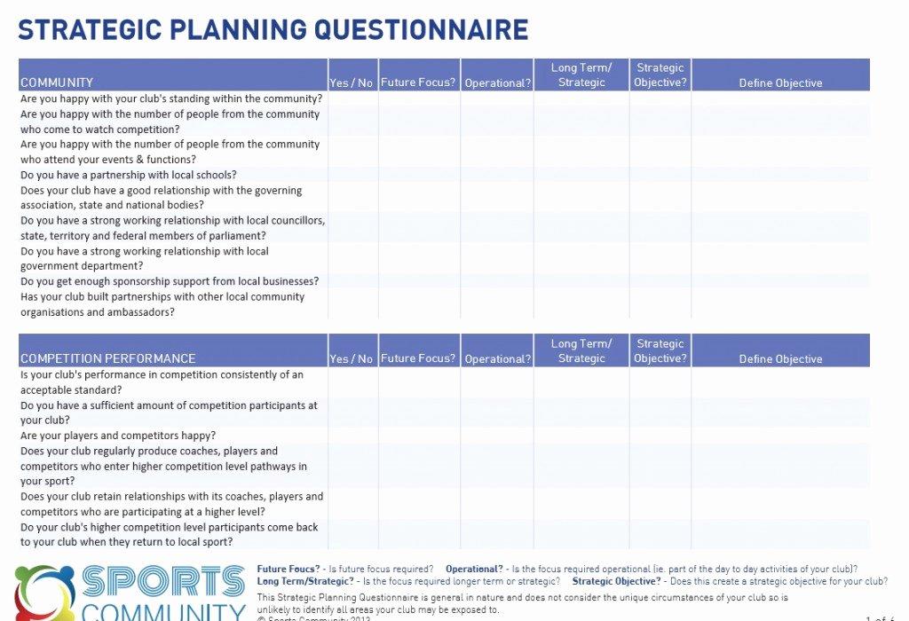 It Strategic Plan Template Beautiful Strategic Planning Template