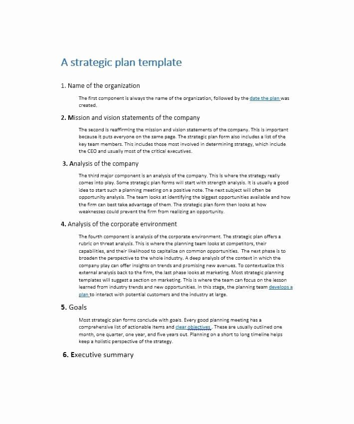It Strategic Plan Template Fresh 32 Great Strategic Plan Templates to Grow Your Business