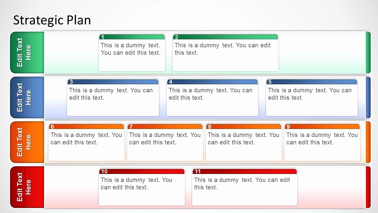 It Strategic Plan Template Inspirational Basic Strategic Plan Template for Powerpoint Slidemodel