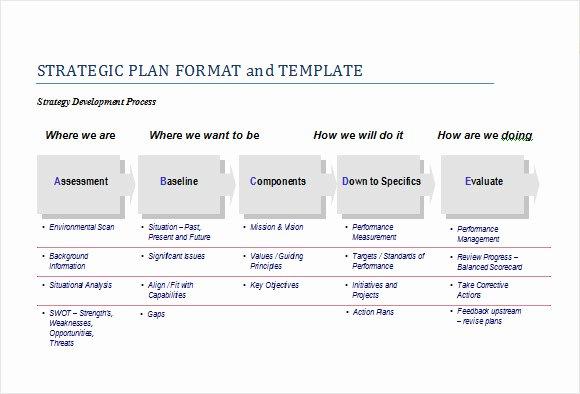 It Strategic Plan Template Inspirational Sample Strategic Plan Template 12 Free Documents In Pdf