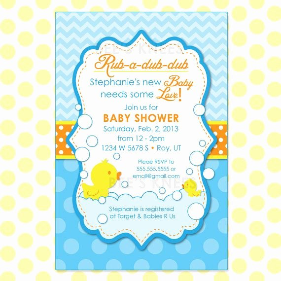 Jist Card Template Awesome 3 Brilliant Cool Rubber Ducky Baby Shower Invitation