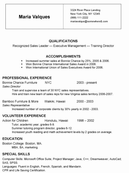 Jist Card Template Awesome Chronological Resumes