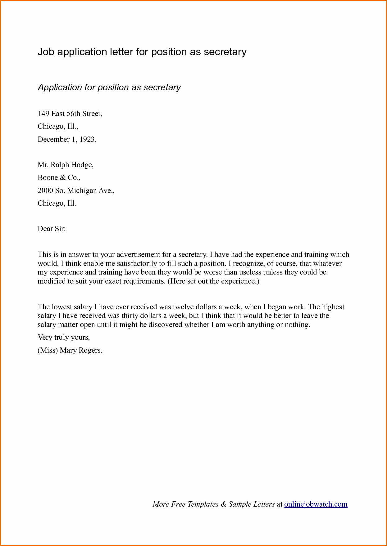 Job Application Letter format Pdf Fresh Sample Cover Letter format for Job Application