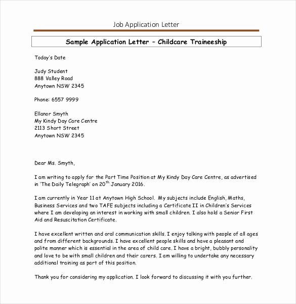 Job Application Letter format Pdf Inspirational Job Application Template 19 Examples In Pdf Word