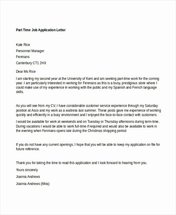 Job Application Letter format Pdf Lovely 94 Best Free Application Letter Templates & Samples Pdf