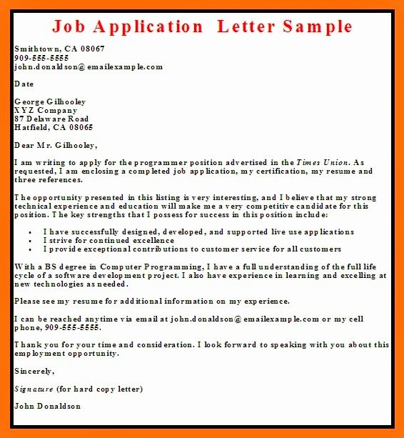 Job Application Letter format Pdf Lovely Business Letter Examples Job Application Letter