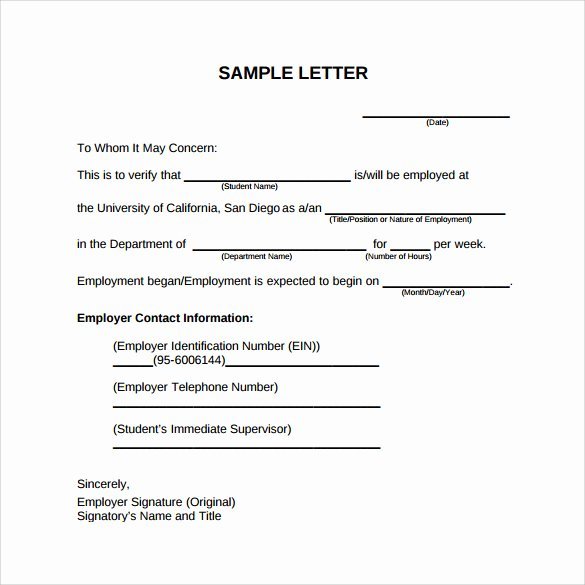 Job Application Letter format Pdf Luxury Employment Verification Letter 14 Download Free