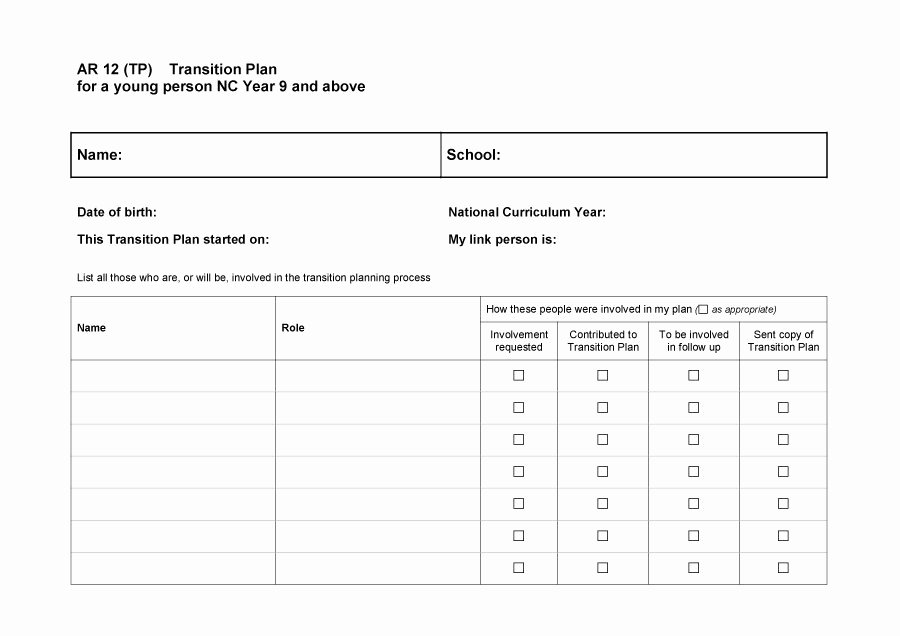 Job Transition Plan Template Awesome 40 Transition Plan Templates Career Individual