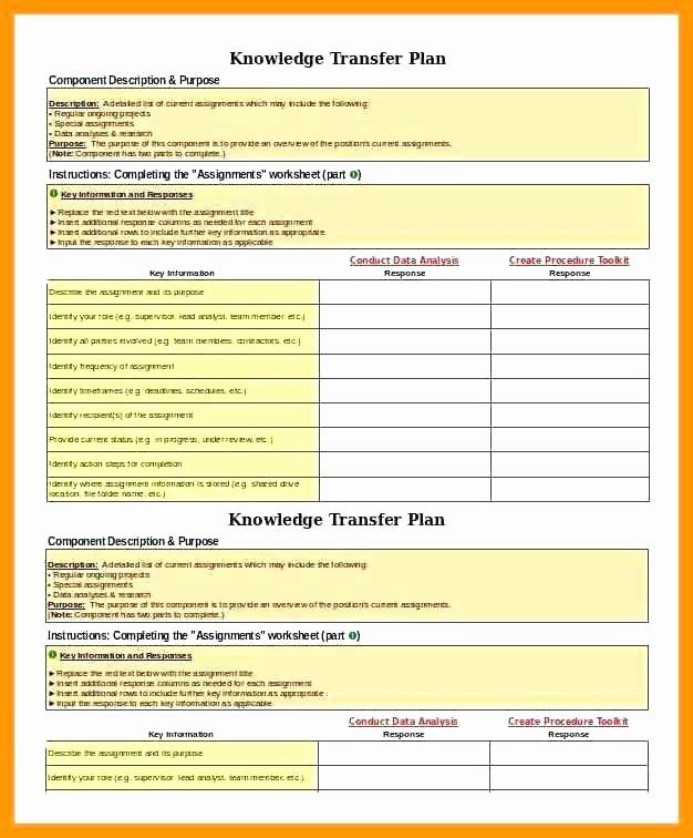 Job Transition Plan Template Awesome Employee Transition Plan Template Staff Job Word 6