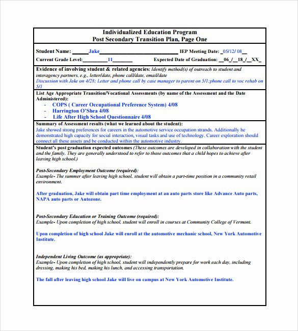 Job Transition Plan Template Inspirational 9 Sample Transition Plans – Pdf Word Pages